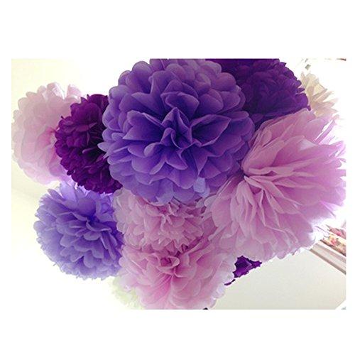 Preisvergleich Produktbild Super44day 14/12Zoll Tissue Papierblumen handgefertigt seidenpapier Crafts Pom Poms Blumen Bälle für Hochzeit Geburtstags Party Festliche Deko Home Decoration Partei Feier Dekoration (30 Stück)