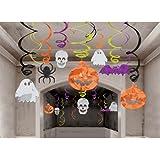 30 pièces décoration découpages et tourbillons - Halloween - fantôme, araignée, citrouille