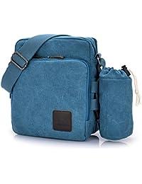 Outreo Borsa Tracolla Uomo Borse da Spalla di Tela Canvas Messenger Bag  Vintage Sacchetto di Tablet Piccolo Borsello per Studenti Scuola… 79ed7ad1e4a