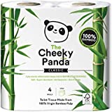 The Cheeky Panda 100 Percent Bamboo Toilet Paper Tissue Roll - Pack of 4