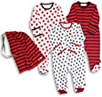 The Essential One - Unisex Pack of 3 Baby Sleepsuits / Babygrows ESS36