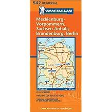 Carte routière : Mecklenburg-Vorpommern, Sachsen-Anhalt, Brandenburg, Berlin, N° 11542 (en allemand)