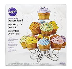 Wilton Silver Cupcake 'n' More Stand - Holds 13