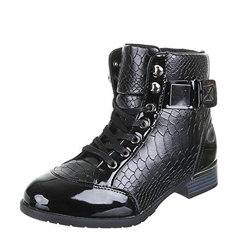 LS-chaussures, 206, bottines Noir - Noir