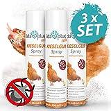 Ida Plus – Kieselgur Milben Spray – 3X 400 ml – Mittel gegen Vogelmilben, Ameisen, Flöhe & Insekten – Insektenspray für den Hühnerstall, Garten & Haus – für Hühner, Geflügel, Kaninchen & Hunde