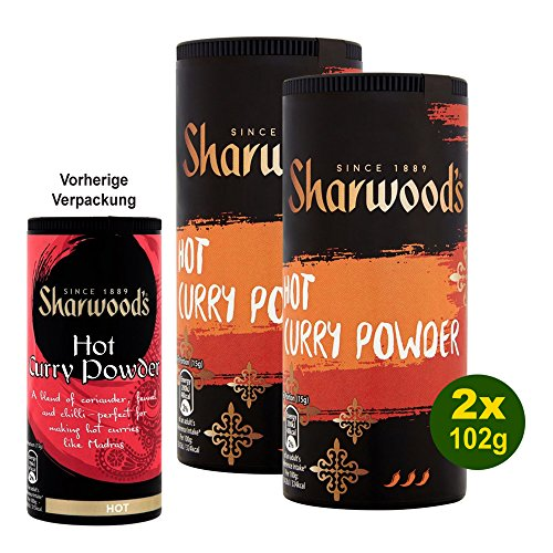 Sharwood's Hot Curry Powder 2x 102g - Scharfes Curry Pulver Gewürz