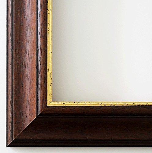 Online Galerie Bingold Holz - Bilderrahmen Genua Braun Gold 4,3-30x40 - WRF mit Normalglas - 100 Größen