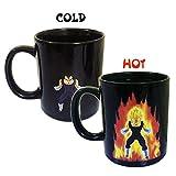 Dragon Ball Z Becher, Farbwechsel Wärmereaktiv Kaffeebecher, Großer Geschenk Tassen für Dragon Ball Fans, Männer and Junge (vegeta)