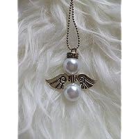 regalo di san valentino coppia amore fidanzamento innamorati collana angelo custode angelo protettore porta fortuna arcangelo ali perle binache brillanti strass inverno natale