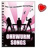 Ohrwurm-Songs von Sven Kessler - Songbook mit Noten, Texten, Akkordsymbolen und Gitarrengrifftabelle - mit bunter herzförmiger Notenklammer
