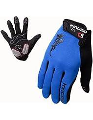 Panegy - Guantes Deportivos de Bicicleta Ciclismo deportes con dedos completos para Hombres - M - Azul