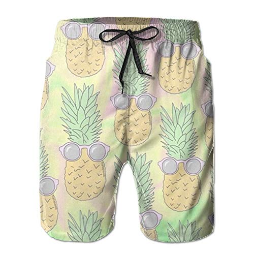 Feng Huang Sommer Sonnenbrille Ananas Floral Quick Dry Spitze Boardshort Strand Shorts Hosen Badehose Mann Badeanzug Mit Taschen M