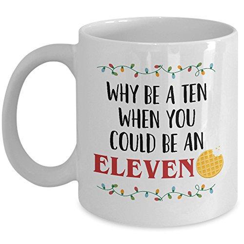 Elf Kaffee Tasse-Warum ein Zehn, wenn Sie könnte ein Elf Tasse Keramik Steinware Neuheit Stranger Geschenkidee für Dinge, Fans-Die Upside Down inspiriert Geschenkidee für Ihn Ihr durch mycozycups (Upside-down-bier)