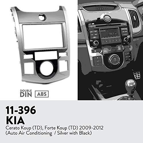 UGAR 11-396 Trim Car Radio Installation Facia Passend für KIA Cerato Koup (TD), Forte Koup (TD) 2009-2012 - Koup Kia Forte 2011
