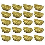 Fenical charmes d'or Pendentif Lingot d'or pour Bricolage Fabrication Yuan bao Richesse Lingot Bracelet Collier Fabrication de Bijoux Accessoire 20pcs...