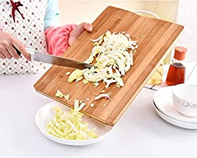Orpio Bamboo Wooden Kitchen Chopping Board With Handle For Vegetables Cutting And Fruit Cutting. (38*28)