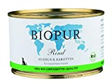 Biopur Bio Hundefutter Rind, Nudeln, Karotten 400 g, 12er Pack (12 x 400 g)