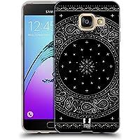 Head Case Designs Autour Noir Bandana Cachemire Classique Étui Coque en Gel molle pour Samsung Galaxy A3 (2016)