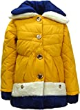 #8: Come In Kids Girls Full Sleeve Winterwear Hooded and Button Closure Quilted Jacket