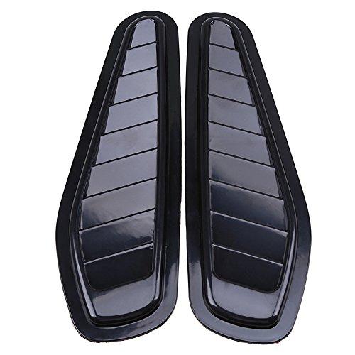 2Auto dekorative Air Flow Lufteinlass Scoop Turbo Motorhaube Vent Cover Kapuze für Fender schwarz Nachahmung