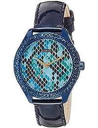 Guess Damen-Armbanduhr Analog Quarz Leder W0626L3
