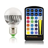 E27 LED Farbwechsellampe klein RGB (multicolor) mit Fernbedienung 5W (Watt) dimmbar 120° Abstrahlwinkel Lampe Strahler Original Qualilux®