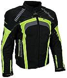 Sportliche Motorrad Jacke Motorradjacke Heyberry Schwarz/Neon Gr. XL