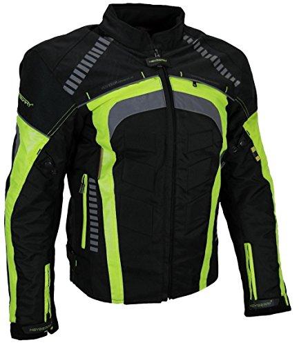 HEYBERRY Sportliche Motorrad Jacke Motorradjacke Schwarz/Neon Gr. XXL