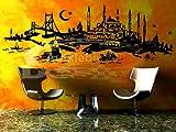 Türkiye Türkei ISTANBUL SKYLINE in versch. Gr. und 27 Farben - ca. 206 x 71 cm (bxh) - SCHWARZ