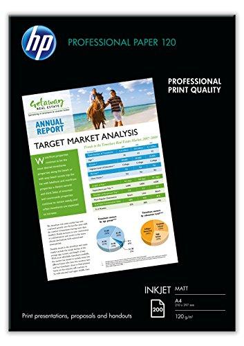 fotopapier matt a4 HP Professional Inkjet-Papier matt (beidseitig beschichtet) 120g/m2 A4 200 Blatt, weiß
