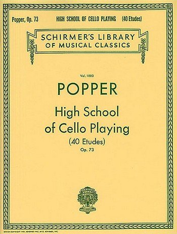 David Popper: High School of Cello Playing (40 Etudes) Op.73