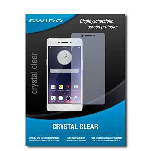 SWIDO Bildschirmschutz für Oppo R7 [4 Stück] Kristall-Klar, Hoher Härtegrad, Schutz vor Öl, Staub & Kratzer/Schutzfolie, Bildschirmschutzfolie, Panzerglas Folie