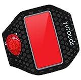 JBL Yurbuds ErgoSport Sport Armband (Reflektierend, Schweißbeständ, RadiantReflect-Technologie, LED Beleuchtung, Taschen für Schlüssel/Karten Universalgröße für Smartphones/MP3 Geräte) schwarz/rot