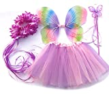 """Tante Tina Costume Bambina """"Farfalla Set di 4 Pezzi - con Ali da Fata o Farfalla - Multicolore"""