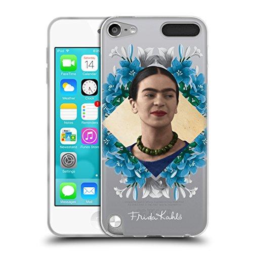 Head Case Designs Offizielle Frida Kahlo Liliy Kranz Portrait 2 Soft Gel Hülle für Apple iPod Touch 5G 5th Gen (Soft Touch Kranz)