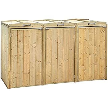 Wheelie Bin Storage Pressure Treated Garden Recycling