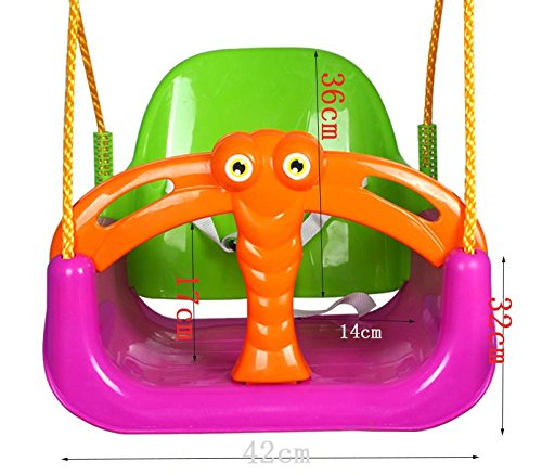 Ailin home- Kids Toys Childrens Indoor Cradle Swing Seat Childs Toddler Adjustable Outdoor Garden Rope Safety Safe Swing Seat - Suitable For 2 To 6 Years Old ( Color : Pink ) Seat Made from exquisite fabrics and sturdy structures, Suitable for children of different ages to play Please play in the presence of adults 1