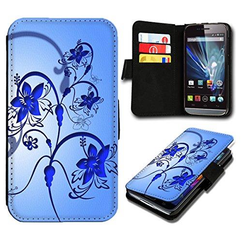 Book Style LG L Fino Premium PU-Leder Tasche Flip Brieftasche Handy Hülle mit Kartenfächer für LG L Fino - Design Flip SB601
