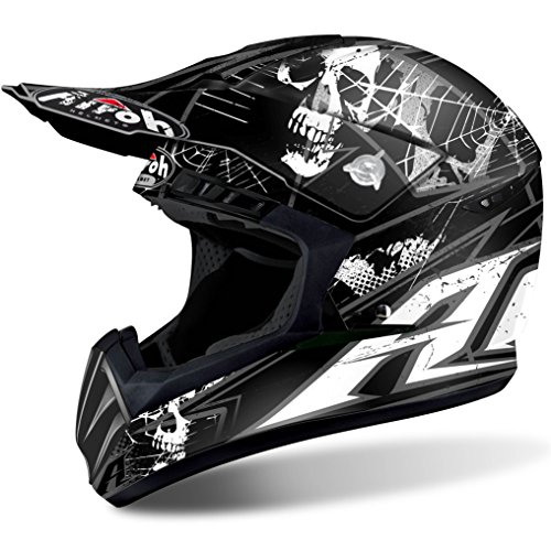 Airoh Casco Helmet Cross Switch Scary Black Matt TG L