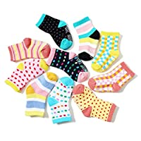 Non Skid Anti Slip Crew Cotton Socks With Grips For Baby Toddlers Boys