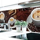 Küchenrückwand Kaffee Mix Premium Hart-PVC 0,4 mm selbstklebend 220x60cm