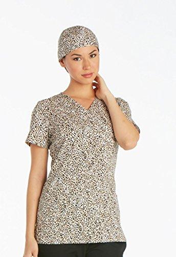Bunte OP-Hauben aus Stoff von US-Qualitätsmarke Cherokee Uniforms (Wild Cat) (Greys Anatomy Scrubs)
