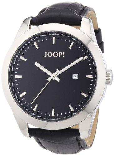 Joop! Essential JP100801F05 - Orologio da polso da uomo, cinturino in pelle colore nero