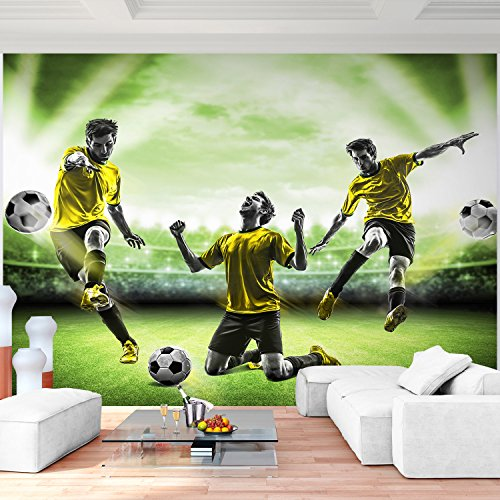 Preisvergleich Produktbild Fototapete Fussball 352 x 250 cm - Vliestapete - Wandtapete - Vlies Phototapete - Wand - Wandbilder XXL - !!! 100% MADE IN GERMANY !!! Runa Tapete 9049011b