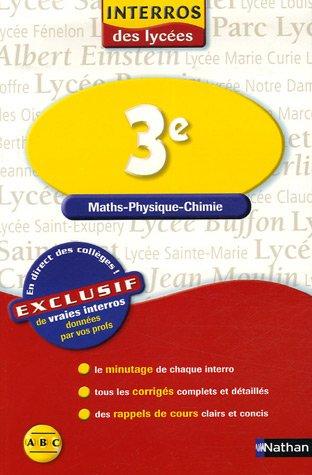Maths-Physique-Chimie 3e
