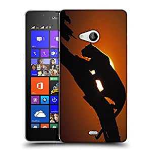 Snoogg Leopard On Tree Designer Protective Back Case Cover For NOKIA LUMIA 540
