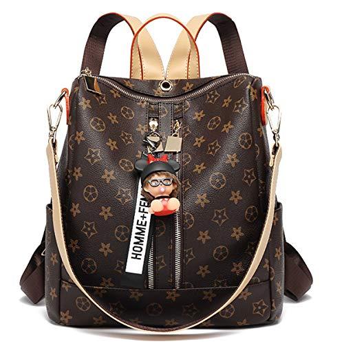 Neue Rucksack Anti-Diebstahl-Umhängetasche Wickeltasche Druck Student Tasche Multifunktions-Frau Tasche Messenger Bag Umhängetasche (Doppelter Reißverschluss, 30 * 14 * 29cm)