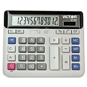 PC Touch 2140 Desktop Calculator by Victor (English Manual)