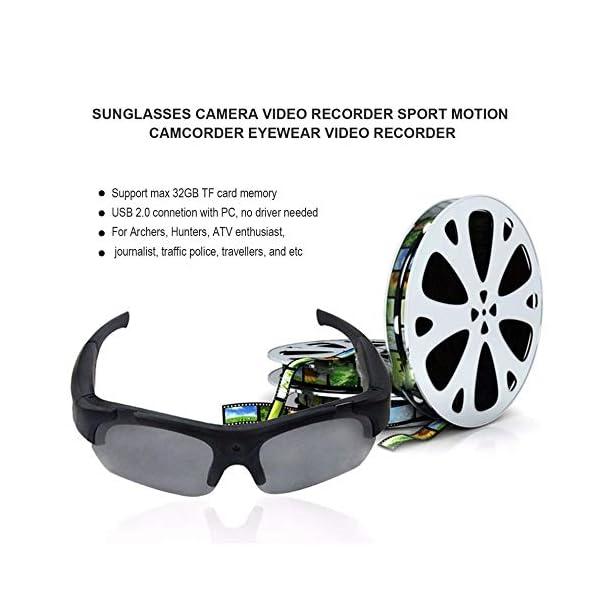 Bluetooth Gafas de Sol, Gafas estéreo Digital de los Deportes de conducción Gafas polarizadas Gafas de Sol de la cámara… 5