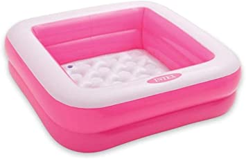 NT Square Shaped Swimming Bath Tub for Kids Under Age Group of 3 Years - 3 Feet, Pink
